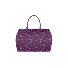 Lipault Lady Plume Weekend Bag M in the color Eiffel Tower/Purple.