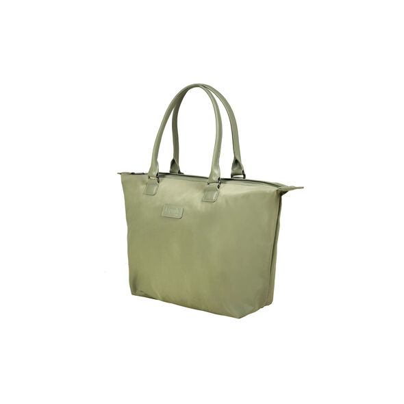 Lipault Lady Plume Tote Bag M in the color Almond Green.