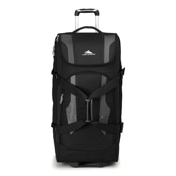 "High Sierra Adventure Access 32"" Wheeled Duffel in the color Black."