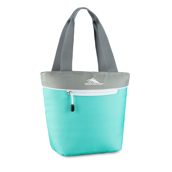High Sierra Lunch Packs Tote in the color Aquamarine/Ash/White.