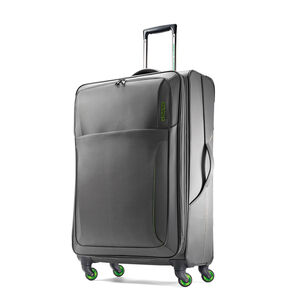"American Tourister LiteSPN 24"" Spinner in the color Grey/ Green."