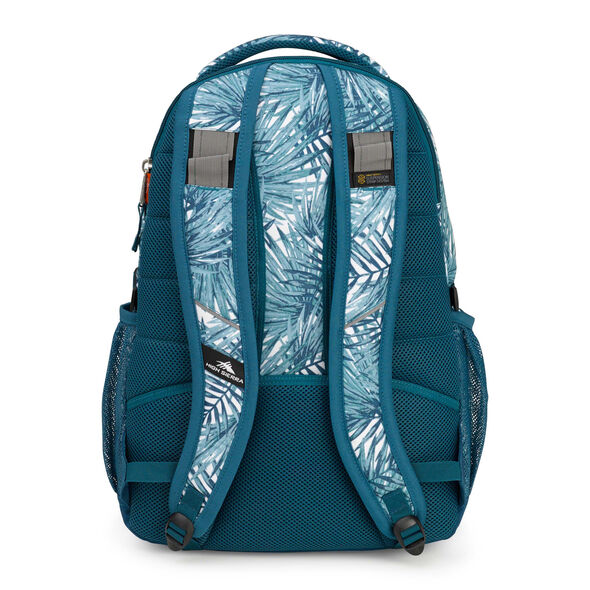 High Sierra Swerve Backpack in the color Palms/Lagoon.