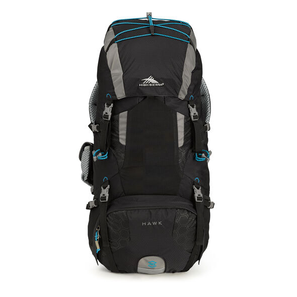 High Sierra Tech 2 Series Hawk 40 Frame Pack in the color Black/Charcoal/Pool.