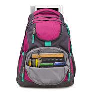High Sierra Access Backpack in the color Razzmatazz/Mercury/Aquamarine.