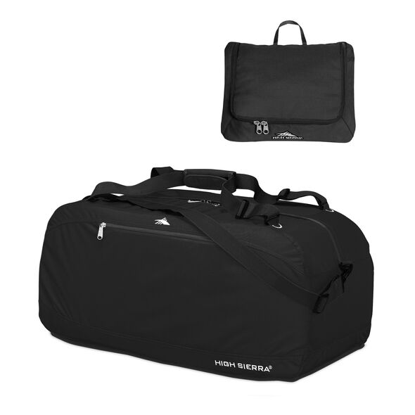 """High Sierra 30"""" Pack-N-Go Duffel in the color Black."""