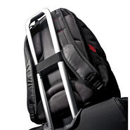 "Samsonite Tectonic 17"" Perfect Fit Laptop Backpack in the color Black/Red."
