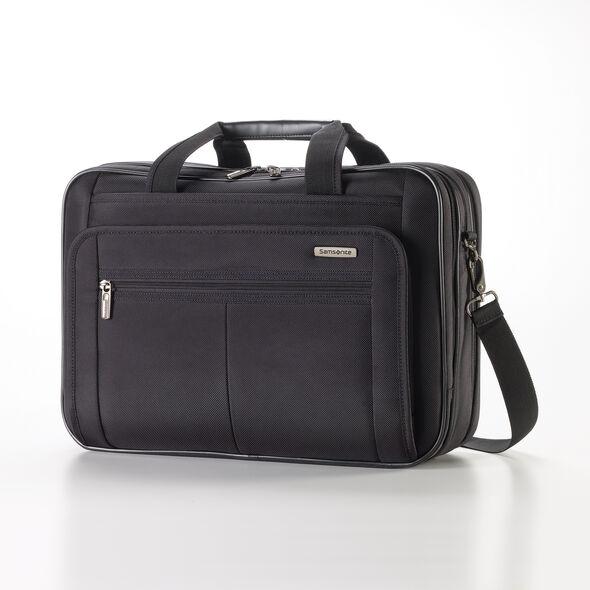 Samsonite Classic 2 3 Gusset TSA Briefcase in the color Black.