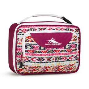 High Sierra Lunch Packs Single Compartment in the color Macrame/Razzmatazz/White.