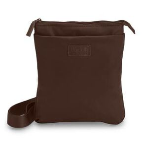 Lipault Original Plume Large Cross Body in the color Chocolate.