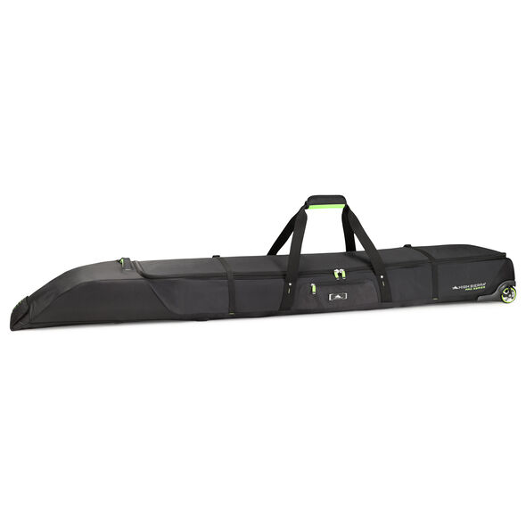 High Sierra Wheeled Double Adjustable Ski Bag in the color Black/Zest.