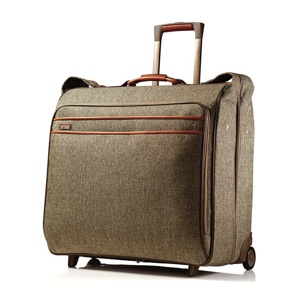 Hartmann Tweed Large Wheeled Garment Bag in the color Natural.