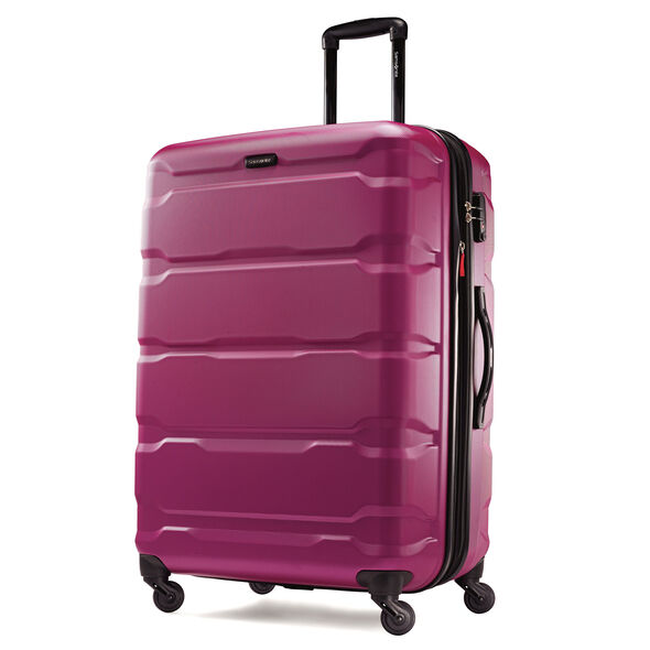 "Samsonite Omni PC 28"" Spinner in the color Radiant Pink."