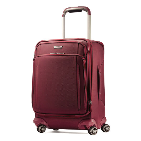 "Samsonite Silhouette XV 21"" Spinner in the color Napa Red."
