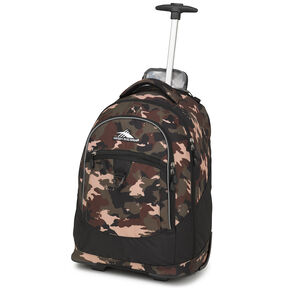 High Sierra Chaser Wheeled Backpack in the color Whamo Camo/Black.