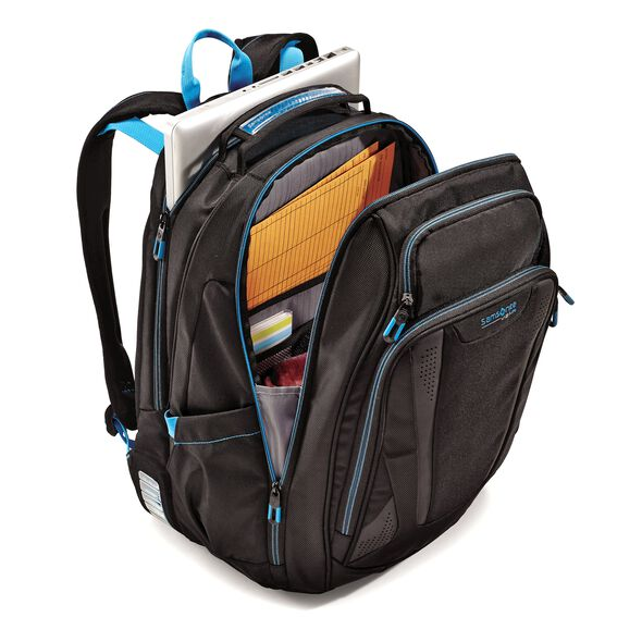 Samsonite Viz Air 2 Laptop Backpack in the color Black/Electric Blue.