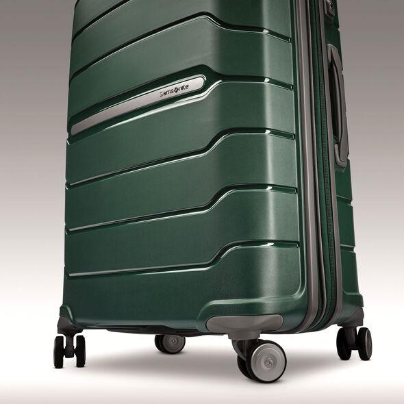 """Samsonite Freeform 24"""" Spinner in the color Sage Green."""