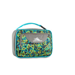 High Sierra Lunch Packs Single Compartment in the color Electric Geo/Charcoal/Tropic Teal.