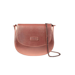 Lipault Miss Plume Saddle Bag in the color Pink Gold.