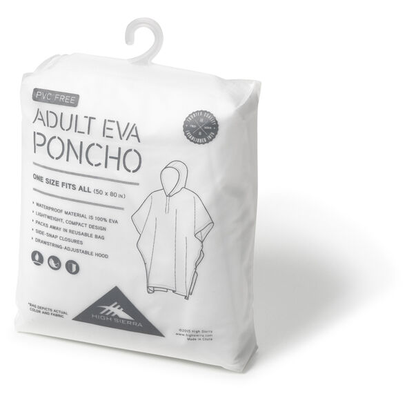High Sierra Adult EVA Poncho in the color Clear.