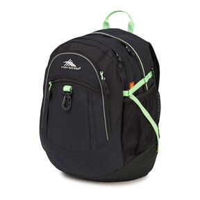 High Sierra Fat Boy Backpack in the color Midnight Blue/Black/Lime.