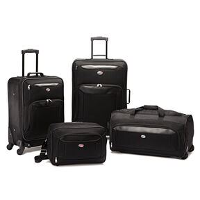 American Tourister Brookfield 4 PC Set in the color Black.