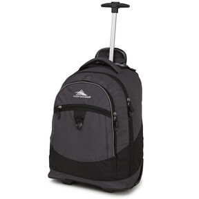 High Sierra Chaser Wheeled Backpack in the color Mercury/Black.