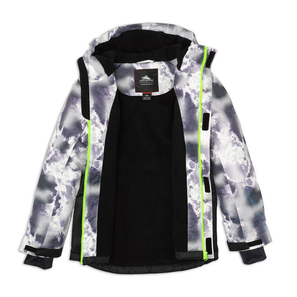 High Sierra Boy's Frankie Insulated Printed Jacket in the color Thunderstruck/ Black.