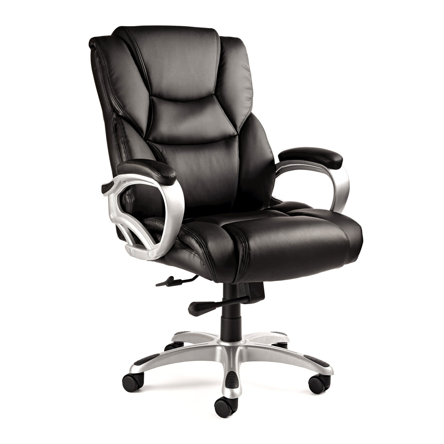 Office chairs for big and tall - Samsonite Hamburg Big Tall Premium Bonded Leather Chair In The Color Black