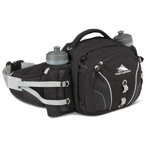 High Sierra Classic 2 Series Ridgeline Waistpack in the color Black/Silver.