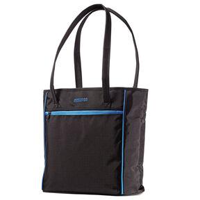 American Tourister Skylite Shopper in the color Black/Blue.