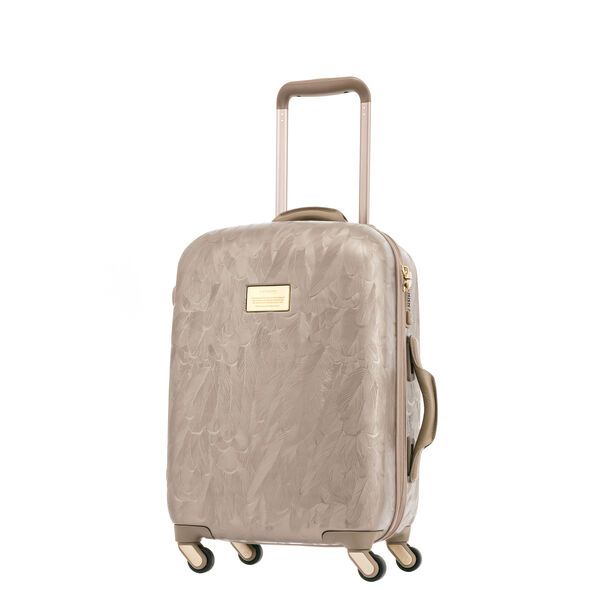 "Samsonite Black Label Magpie 20"" Spinner in the color Ivory Gold."