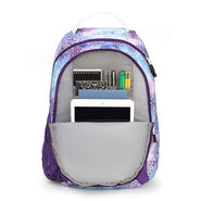 High Sierra Curve Backpack in the color Flower Daze/Deep Purple/White.