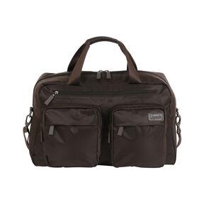 """Lipault Original Plume 19"""" Weekend Bag in the color Chocolate."""