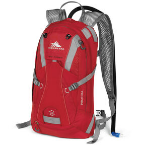 High Sierra Piranha 10L Hydration Pack in the color Bright Red/Silver.