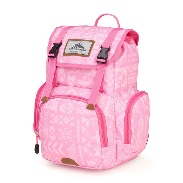 High Sierra Mini Emmett Backpack in the color Block Print/ Pink Lemonade.