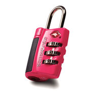 Samsonite Travel Sentry 3-Dial Combo Lock in the color Neon Pink.