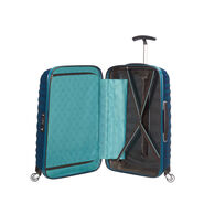 "Samsonite Black Label Lite-Shock 20"" Spinner in the color Petrol Blue."
