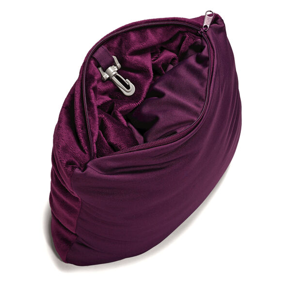 Samsonite Magic 2 in 1 Pillow in the color Purple.
