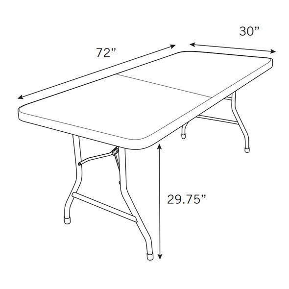 Samsonite 7700 Series Fold-in-Half 6' Mold Table in the color Grey.
