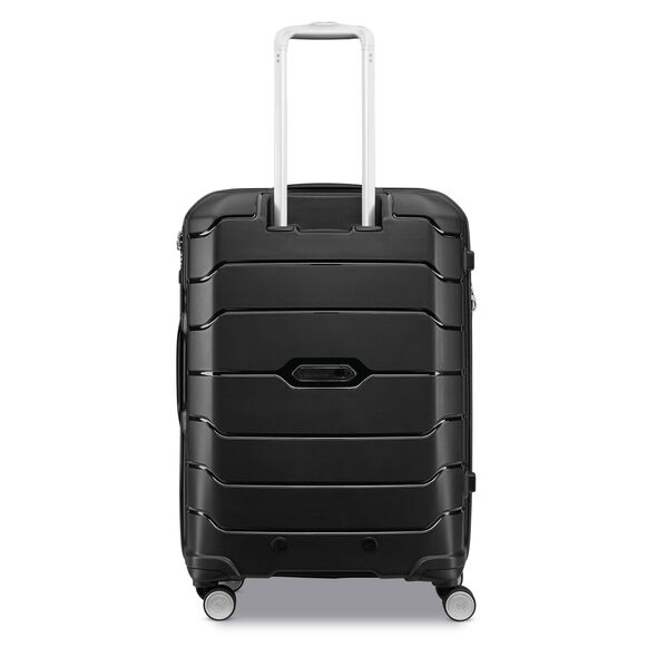 "Samsonite Freeform 24"" Spinner in the color Black."