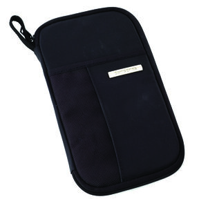 Samsonite Zip Close Travel Wallet in the color Black.