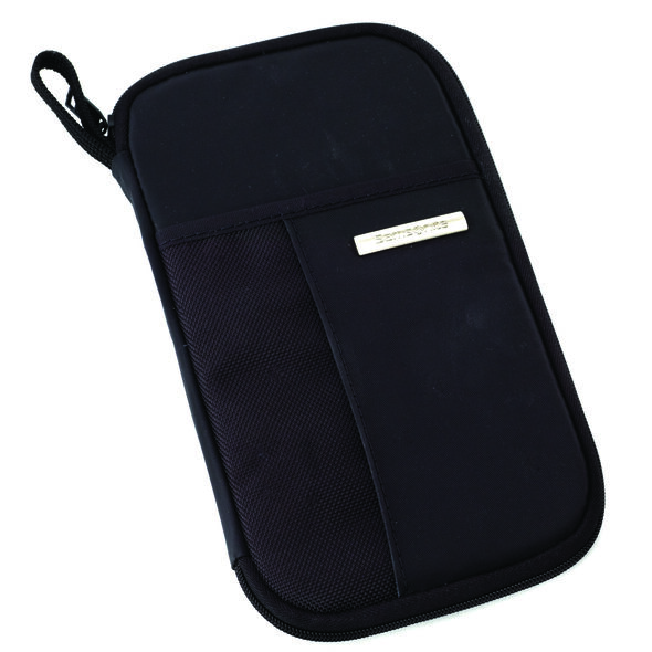 Samsonite Zip Close Travel Wallet in the color Black.