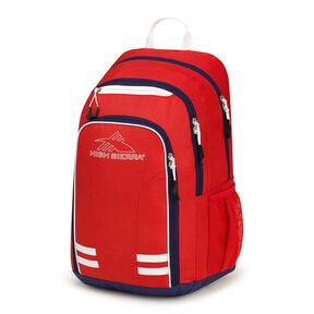 High Sierra Blaise Backpack in the color Crimson/True Navy/ White.