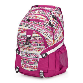 High Sierra Loop Backpack in the color Macrame/Razzmatazz/White.
