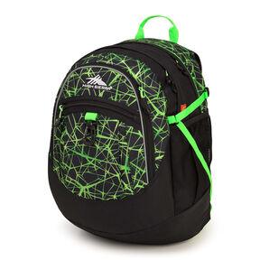High Sierra Fat Boy Backpack in the color Digital Web/Black/Lime.