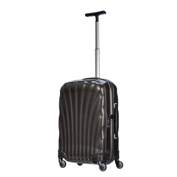 "Samsonite Black Label Cosmolite 20"" Spinner in the color Black."