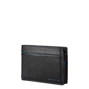Samsonite S-Pecial SLG Billfold 7CC + 2 Comp in the color Black/Sea Green.