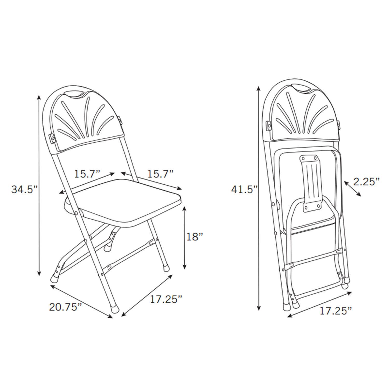 Samsonite Plastic Folding Chairs