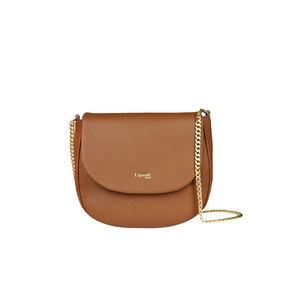 Lipault Plume Elegance Saddle Bag in the color Cognac Leather.