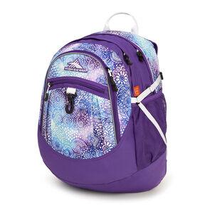 High Sierra Fat Boy Backpack in the color Flower Daze/Deep Purple/White.